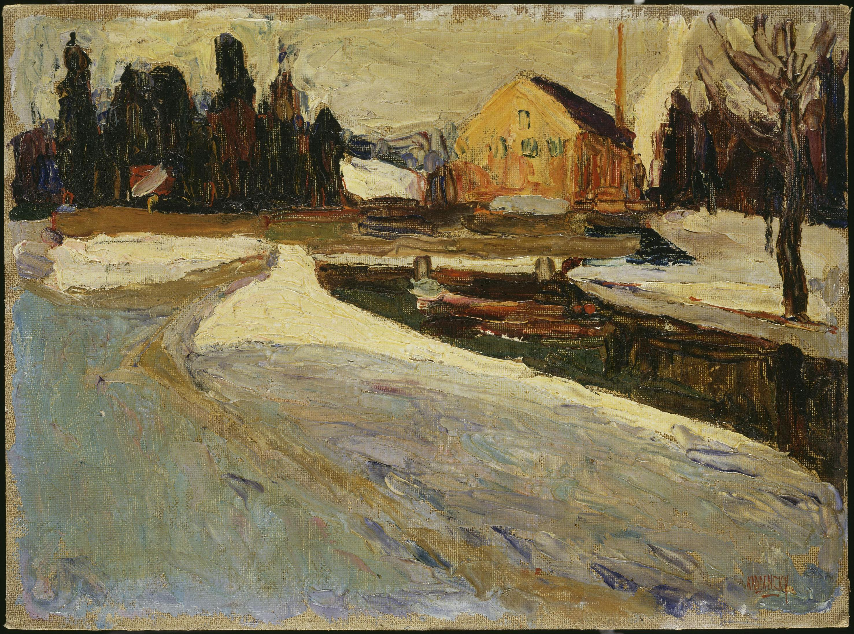 Schwabing, Wintersonne (Schwabing: Sol de invierno), 1901. © Vassily Kandinsky, VEGAP, Madrid 2015.