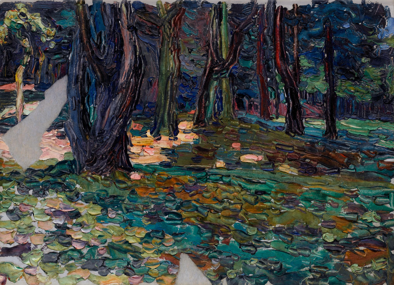 Park von Saint-Cloud, Waldlichtung (Parque de Saint-Cloud, claro), 1906 - 1907. © Vassily Kandinsky, VEGAP, Madrid 2015.