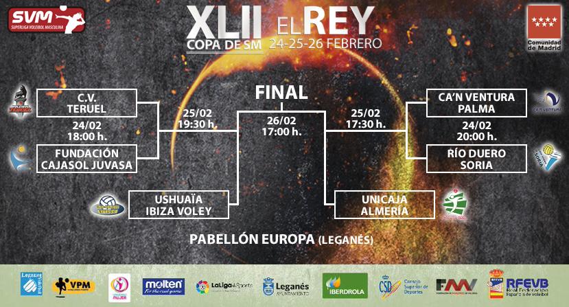 Las Copas de la Reina y del Rey de Voleibol gratis en Leganés