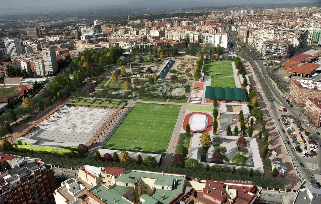 Se presenta el parque del Tercer Depósito del Canal que sustituirá al campo de golf