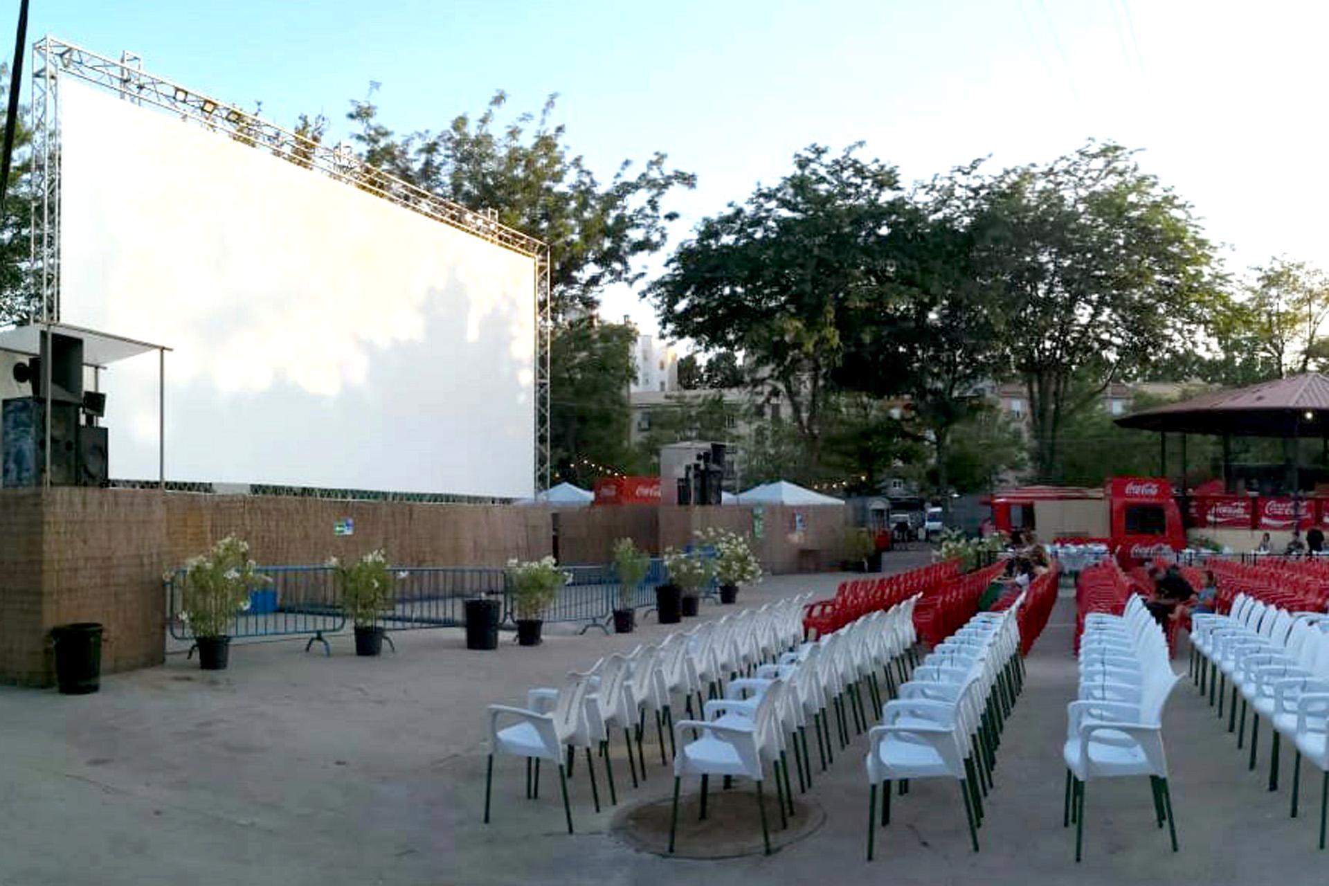 Cine de verano del Parque de La Bombilla